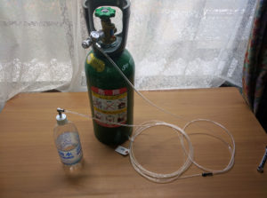 自作の炭酸水メーカーの完成写真