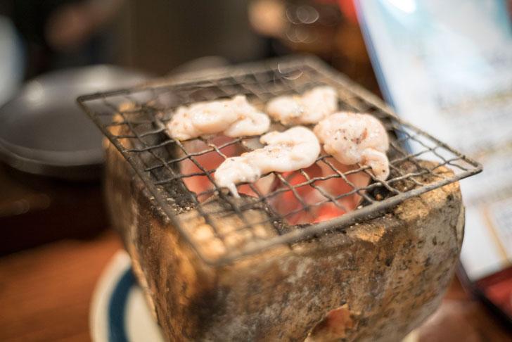 炉端のユーカラの炉端焼き