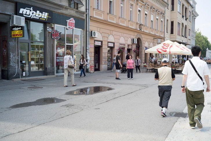 Novi Sadの街並み