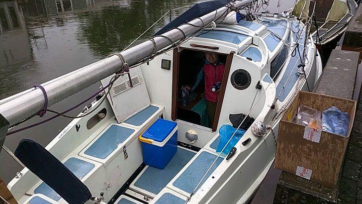 宿泊したボート