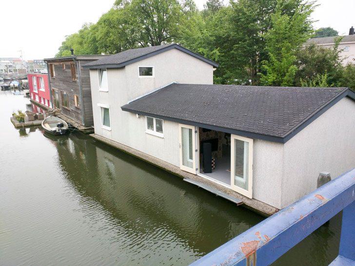 アムステルダムのボートハウス