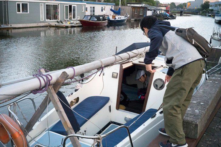 僕たちが宿泊したボート