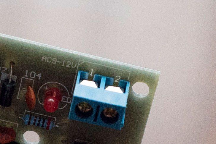 水位センサーのAC電源部位の拡大図