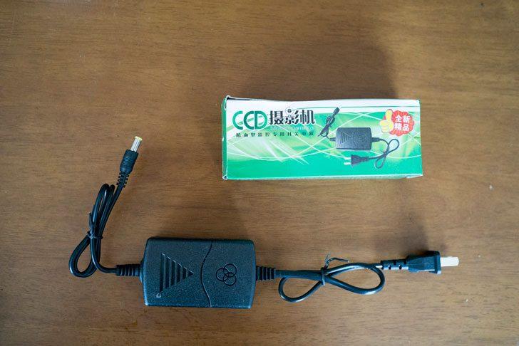 中国製監視カメラ用ACアダプター