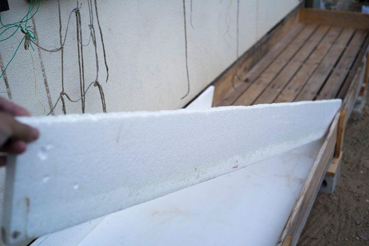 側面の発泡スチロール