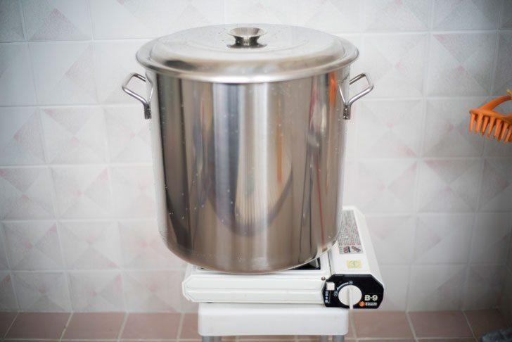 20リットルの水を沸騰