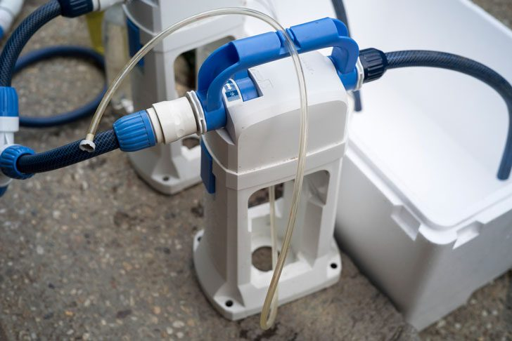 液肥希釈キットの液肥吸い上げチューブ延長
