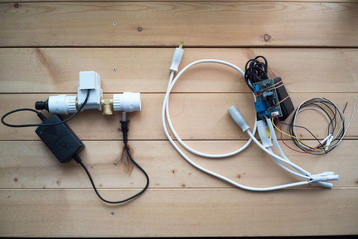 電磁弁と水位センサーリレーモジュール
