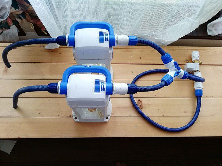 液肥希釈キットを2つ並列に取り付け完了